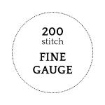 200 stitch - Fine Gauge